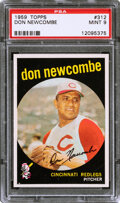 Baseball Cards:Singles (1950-1959), 1959 Topps Don Newcombe #312 PSA Mint 9 - None Higher!...