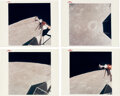 """Explorers:Space Exploration, Apollo 11 Vintage NASA """"Red Number"""" Color Photos (Four): The Moon's Surface from Lunar Orbit...."""