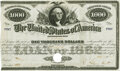 Stocks and Bonds, United States - Acts of July 17th and August 5th, 1861 $1000 6% Registered Bond. Hessler X130D. Issued and Redeemed. PCGS Abou...