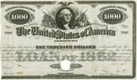 United States - Acts of July 17th and August 5th, 1861 $1000 6% Registered Bond. Hessler X130D. Issued and Redeemed. PCG...