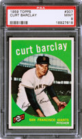 Baseball Cards:Singles (1950-1959), 1959 Topps Curt Barclay #307 PSA Mint 9 - None Higher!...