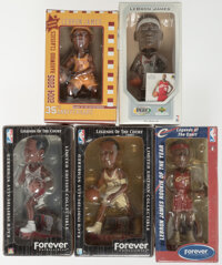 LeBron James Cleveland Cavaliers Bobbleheads, Lot of 5. ... (Total: 5 items)