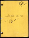 """Movie Posters:Science Fiction, Altered States by Paddy Chayefsky (Warner Bros., 1980). Fine/Very Fine. Revised Film Script (120 Pages, 8.5"""" X 11"""").. ..."""