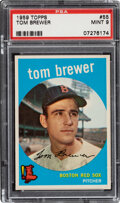 Baseball Cards:Singles (1950-1959), 1959 Topps Tom Brewer #55 PSA Mint 9 - Only One Higher.
