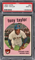Baseball Cards:Singles (1950-1959), 1959 Topps Tony Taylor #62 PSA Mint 9 - Only One Higher.