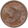 1838 1C MS65+ Brown PCGS. CAC. PCGS Population: (52/13 and 2/3+). NGC Census: (58/15 and 1/0+). CDN: $1,300 Whsle. Bid f...