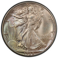 1938-D 50C MS66 PCGS. CAC. PCGS Population: (508/58 and 69/8+). NGC Census: (117/26 and 18/5+). CDN: $1,400 Whsle. Bid f...