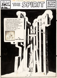Will Eisner The Spirit Complete 7-Page Story Original Art dated 12-18-49 (Register and Tribune Syndicate, 1949).... (Tot...