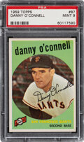 Baseball Cards:Singles (1950-1959), 1959 Topps Danny O'Connell #87 PSA Mint 9 - Only One Highe...