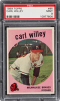 Baseball Cards:Singles (1950-1959), 1959 Topps Carl Willey #95 PSA Mint 9 - Only One Higher.