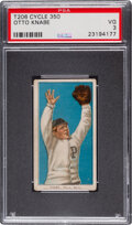 Baseball Cards:Singles (Pre-1930), 1909-11 T206 Cycle 350 Otto Knabe PSA VG 3 - Pop One, Only One Higher for Brand/Series! ...