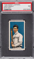 Baseball Cards:Singles (Pre-1930), 1909-11 T206 Sweet Caporal 350/30 Jack Knight (With Bat) PSA NM 7 - Pop One, Two Higher for Brand/Series/Factory. ...