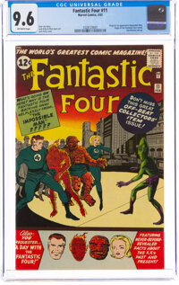Fantastic Four #11 (Marvel, 1963) CGC NM+ 9.6 Off-white pages