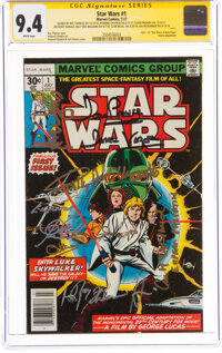 Star Wars #1 Signature Series (Marvel, 1977) CGC NM 9.4 White pages