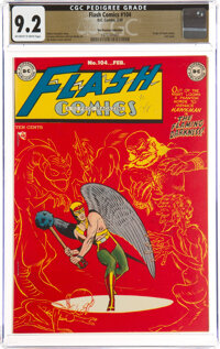 Flash Comics #104 The Promise Collection Pedigree (DC, 1949) CGC NM- 9.2 Off-white to white pages