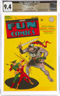 Golden Age (1938-1955), More Fun Comics #101 The Promise Collection Pedigree (DC, 1945) CGC NM 9.4 Off-white to white pages....