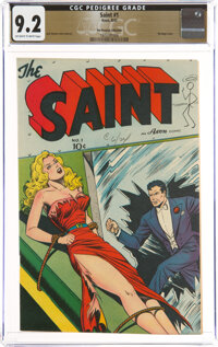 The Saint #1 The Promise Collection Pedigree (Avon, 1947) CGC NM- 9.2 Off-white to white pages