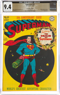 Superman #53 The Promise Collection Pedigree (DC, 1948) CGC NM 9.4 Off-white to white pages