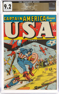 USA Comics #8 The Promise Collection Pedigree (Timely, 1943) CGC NM- 9.2 Off-white to white pages