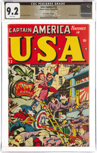 USA Comics #12 The Promise Collection Pedigree (Timely, 1944) CGC NM- 9.2 White pages