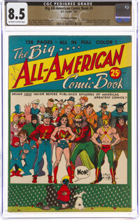 Big All-American Comic Book #1 The Promise Collection Pedigree (DC, 1944) CGC VF+ 8.5 Off-white to white pages