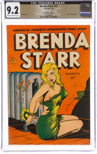 Brenda Starr #14 (#2) The Promise Collection Pedigree (Superior Comics, 1948) CGC NM- 9.2 Cream to off-white pages