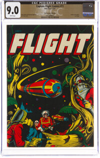 Captain Flight Comics #11 The Promise Collection Pedigree (Four Star, 1947) CGC VF/NM 9.0 White pages