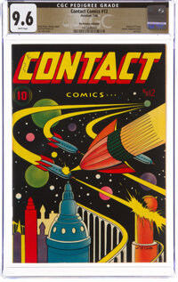 Contact Comics #12 The Promise Collection Pedigree (Aviation Press, 1946) CGC NM+ 9.6 White pages