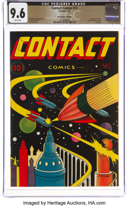 Contact Comics #12 The Promise Collection Pedigree (Aviation Press, 1946) CGC NM+ 9.6 White pages....