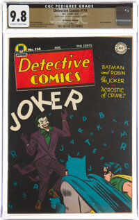 Detective Comics #114 Double Cover - The Promise Collection Pedigree (DC, 1946) CGC NM/MT 9.8 Off-white to white pages...