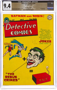 Detective Comics #137 The Promise Collection Pedigree (DC, 1948) CGC NM 9.4 Off-white to white pages