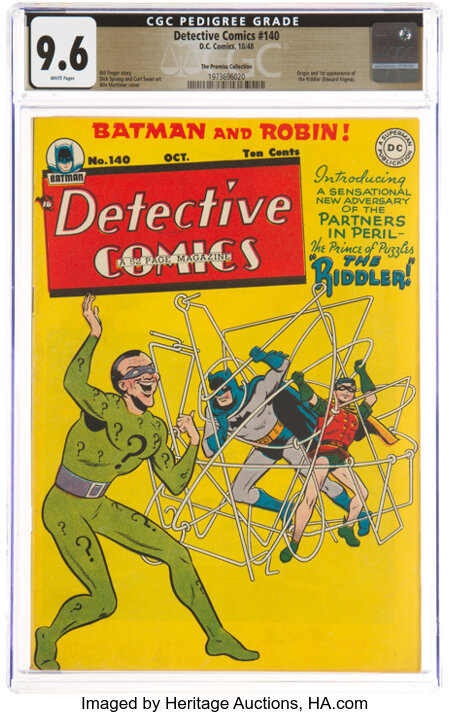 Detective Comics #140 The Promise Collection Pedigree (DC, 1948) CGC NM+ 9.6 White pages....