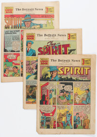 The Spirit (weekly newspaper section) 6-2-40 through 1-5-41 Complete Group of 32 (Will Eisner, 1940-41) Condition: Avera...
