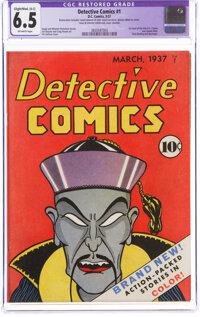 Detective Comics #1 (DC, 1937) CGC Apparent FN+ 6.5 Slight to Moderate (A-2) Off-white pages