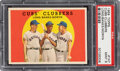 Baseball Cards:Singles (1950-1959), 1959 Topps Cubs Clubbers - Banks/Long/Moryn #147 PSA Mint ...