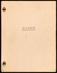 Sleeper by Woody Allen and Marshall Brickman (United Artists, 1974). Very Fine-. Third Revised Script (130 Pages, 8.75&q...