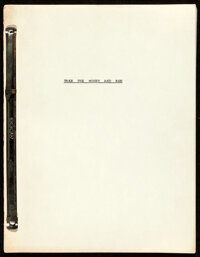 Take the Money and Run by Woody Allen and Mickey Rose (Cinerama Releasing, 1969). Very Fine+. Hand Numbered Script (122...