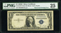 Error Notes:Obstruction Errors, Obstructed Printing Error Fr. 1613W $1 1935D Wide Silver Certificate. PMG Very Fine 25.. ...