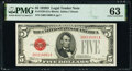 Small Size:Legal Tender Notes, Fr. 1529 $5 1928D Legal Tender Note. PMG Choice Uncirculated 63.. ...