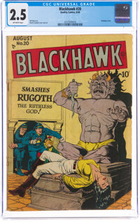 Blackhawk #20 (Quality, 1948) CGC GD+ 2.5 Off-white pages