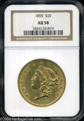 Liberty Double Eagles: , 1855 AU58 NGC. The current Coin Dealer Newsletter (...
