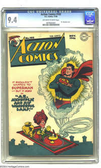 Action Comics #102 (DC, 1946) CGC NM 9.4 Off-white to white pages. Mr. Mxyztplk cover. Wayne Boring cover. Ira Yarbrough...