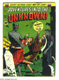 Golden Age (1938-1955):Horror, Adventures Into the Unknown #20 (ACG, 1951) Condition: VG-.Overstreet 2004 VG 4.0 value = $56. ...