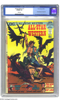 All-Star Western #11 (DC, 1972) CGC VF/NM 9.0 White pages. Second appearance of Jonah Hex. First time on cover. Nestor R...