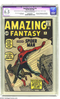 Silver Age (1956-1969):Superhero, Amazing Fantasy #15 (Marvel, 1962) CGC Apparent FN+ 6.5 Extensive(P) Cream to off-white pages. Overstreet rates this book a...