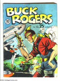 Golden Age (1938-1955):Science Fiction, Buck Rogers #1 (Eastern Color, 1940) Condition: GD. Dick Calkinscover. Sunday strip reprints, beginning with strip #290. Fi...