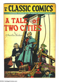 Golden Age (1938-1955):Classics Illustrated, Classic Comics #6 A Tale of Two Cities HRN 28 (Gilberton, 1946)Condition: FN+. Charles Dickens' classic tale. Overstreet 20...