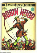 Golden Age (1938-1955):Classics Illustrated, Classic Comics #7 Robin Hood HRN 12 (Gilberton, 1942) Condition: Qualified VG+. Louis Zansky cover and art. No staple. Overs...