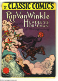 Golden Age (1938-1955):Classics Illustrated, Classic Comics #12 Rip Van Winkle and the Headless Horseman HRN 15(Gilberton, 1943) Condition: VG-. Overstreet 2004 VG 4.0 ...