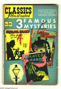 "Golden Age (1938-1955):Classics Illustrated, Classics Illustrated #21 HRN 70 (Gilberton, 1950) Condition: VG+.Features 3 Famous Mysteries. Includes ""The Sign of the 4"",..."